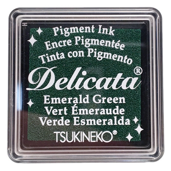 Tsukineko Delicata SMALL EMERALD GREEN Ink Pad DESML321