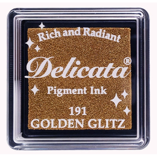 Tsukineko Delicata SMALL GOLDEN GLITZ Ink Pad DESML191 Preview Image