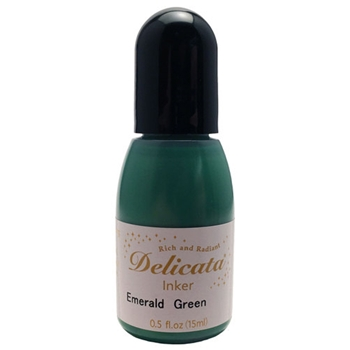 Tsukineko Delicata EMERALD GREEN REFILL Ink RC321