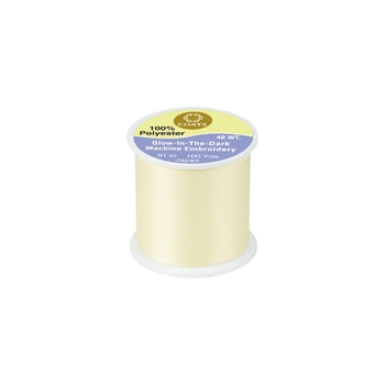 Coats And Clark GLOW IN THE DARK Yellow Thread 100yds 78397