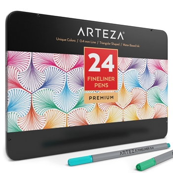 Arteza FINELINER PENS Set of 24 ARTZ8101