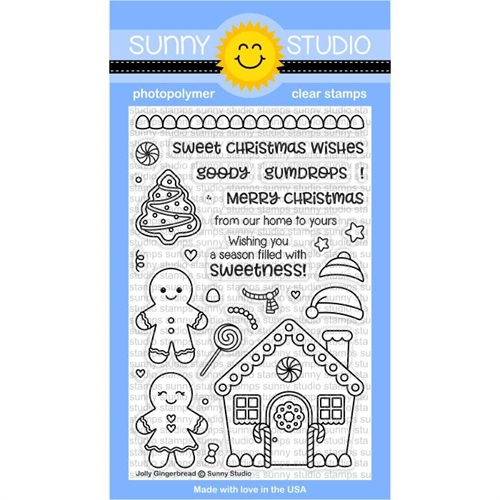 Sunny Studio JOLLY GINGERBREAD Clear Stamp Set SSCL-174 Preview Image