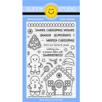 Sunny Studio JOLLY GINGERBREAD Clear Stamp Set SSCL-174