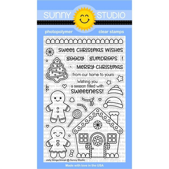 Sunny Studio JOLLY GINGERBREAD Clear Stamp Set SSCL-174 zoom image