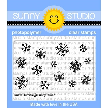 Sunny Studio SNOW FLURRIES Clear Stamp Set SSCL-180