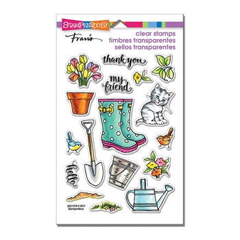 Stampendous Clear Stamps GARDEN BOOTS SSC1270