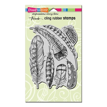 Stampendous Cling Stamp FEATHERS Rubber UM CRR309