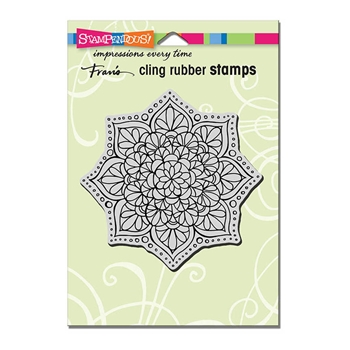 Stampendous Cling Stamp MANDALA FLOWER Rubber UM CRW193