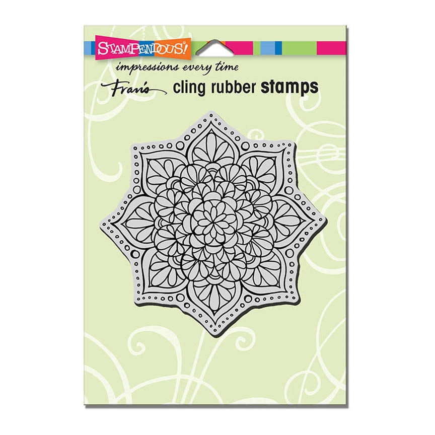 Stampendous Cling Stamp MANDALA FLOWER Rubber UM CRW193 zoom image