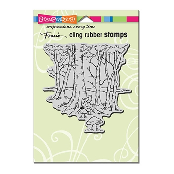 Stampendous Cling Stamp ROBIN WOODS Rubber UM CRW195