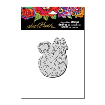 Stampendous Cling Stamp A HAPPY HEART Rubber UM Laurel Burch LBCV008