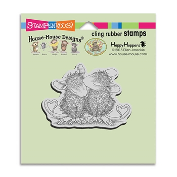 Stampendous Cling Stamp VALENTINE KISS Rubber UM HMCV37 House Mouse