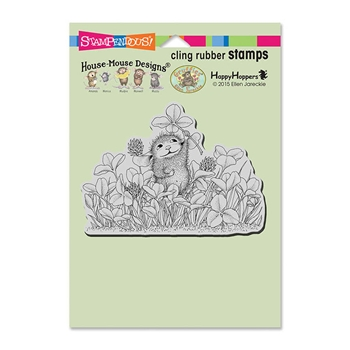 Stampendous Cling Stamp LUCKY CLOVER Rubber UM HMCP86 House Mouse