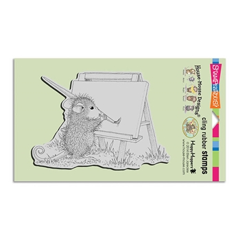 Stampendous Cling Stamp OUTDOOR PAINTER Rubber UM HMCR112 House Mouse