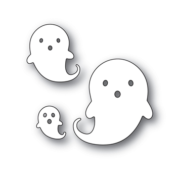 Simon Says Stamp FRIENDLY GHOSTS Wafer Dies S497 Spooky