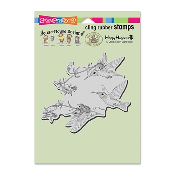 Stampendous Cling Stamp FUCHSIA FLIGHT Rubber UM HMCW08 House Mouse