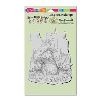 Stampendous Cling Stamp SOAPY SMILE Rubber UM HMCR110 House Mouse