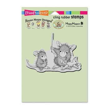 Stampendous Cling Stamp TEDDY MEND Rubber UM HMCP88 House Mouse