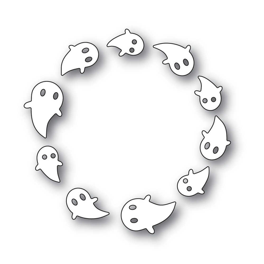 Simon Says Stamp SPINNING GHOSTS Wafer Dies