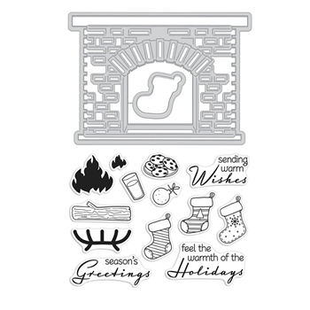 Hero Arts Stamp And Cuts WINTER HEARTH DC221