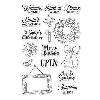 Hero Arts Clear Stamp SANTA'S DOOR ACCESSORIES CM204