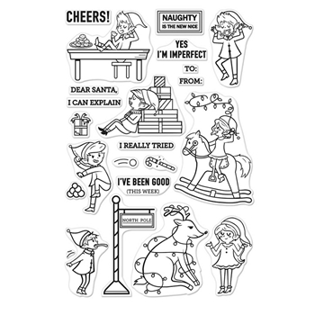 Hero Arts Clear Stamp NAUGHTY ELVES CM206