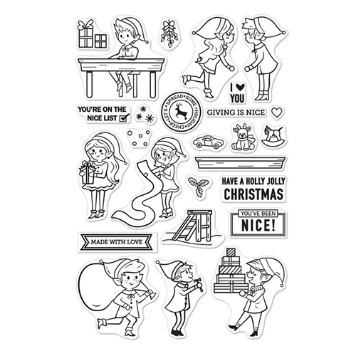 Hero Arts Clear Stamp NICE ELVES CM205 Preview Image