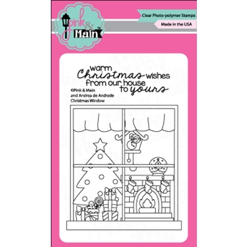 Pink and Main CHRISTMAS WINDOW Clear Stamp Set 023440