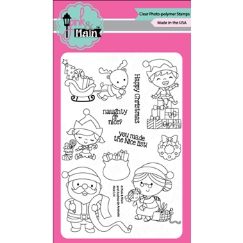 Pink and Main NICE LIST Clear Stamp Set 023501