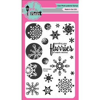 Pink and Main FLURRIES Clear Stamp Set 023488