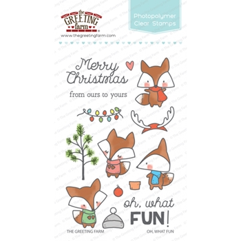 The Greeting Farm OH WHAT FUN Clear Stamps TGF352