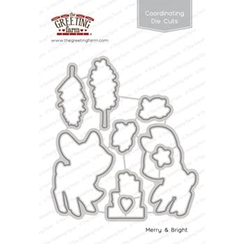 The Greeting Farm MERRY AND BRIGHT Coordinating Die Cuts TGF351