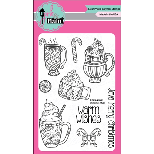 Pink and Main CHRISTMAS MUGS Clear Stamp Set PM0243 Preview Image