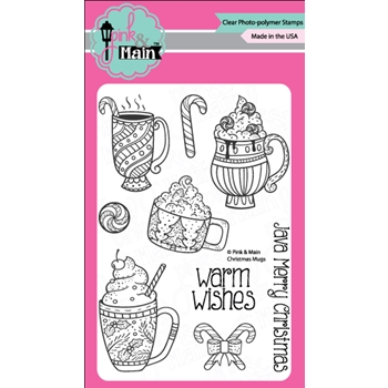 Pink and Main CHRISTMAS MUGS Clear Stamp Set 023419