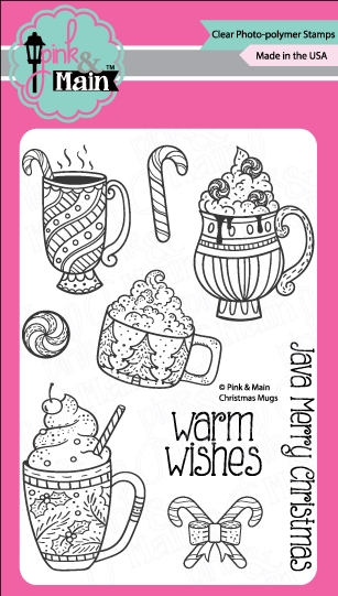 Pink and Main CHRISTMAS MUGS Clear Stamp Set PM0243 zoom image