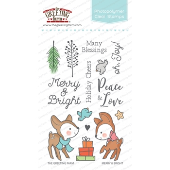 The Greeting Farm MERRY AND BRIGHT Clear Stamps TGF350