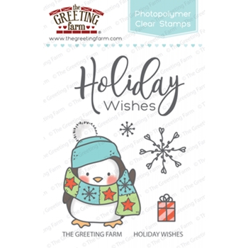The Greeting Farm HOLIDAY WISHES Clear Stamps TGF348