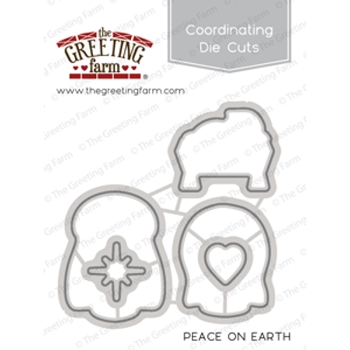 The Greeting Farm PEACE ON EARTH Coordinating Die Cuts TGF347