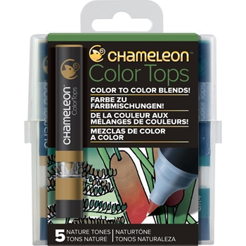 Chameleon NATURE TONES Color Tops Marker Set CT4514
