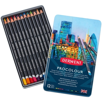 Derwent PROCOLOUR PENCILS 12 Pack 2302505