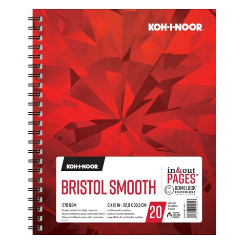 KOH-I-NOOR BRISTOL SMOOTH 9x12 Paper 26170411013 Preview Image