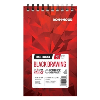 KOH-I-NOOR BLACK DRAWING 5.5x8.5 Paper 26170220412