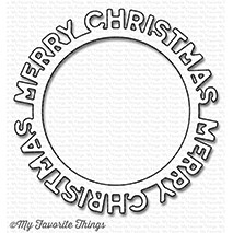 My Favorite Things MERRY CHRISTMAS CIRCLE FRAME Die-Namics MFT1188