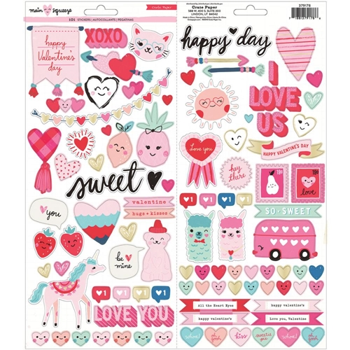 Crate Paper MAIN SQUEEZE 6 x 12 Stickers 379178