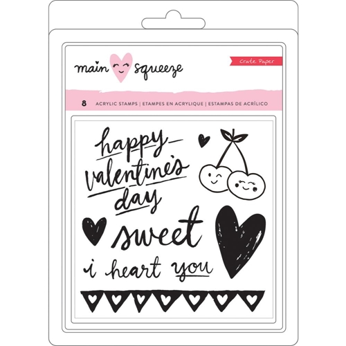 Crate Paper MAIN SQUEEZE Clear Stamp Set 344292