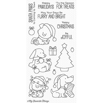 My Favorite Things HAPPY PAWLIDAYS Clear Stamps BB51
