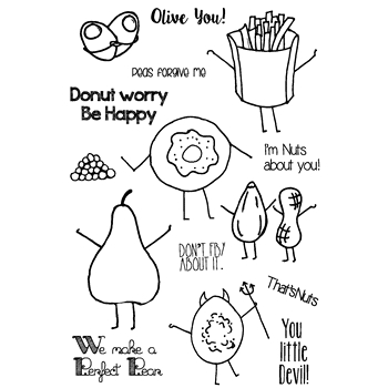 Joy Clair FUNNY FOODS Clear Stamp Set CLR-02040