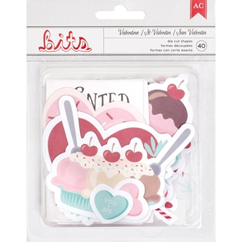 American Crafts VALENTINE EPHEMERA Die Cut Shapes 374631