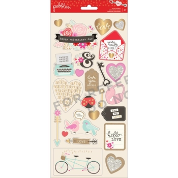 Pebbles Inc. ACCENT STICKERS Forever My Always 733633