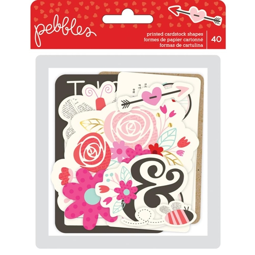 Pebbles Inc. EPHEMERA Printed Cardstock Shapes Forever My Always 733632 Preview Image